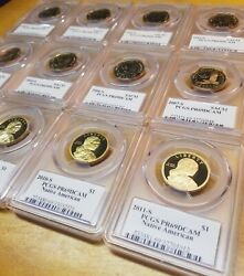 2000-2011-s ☆☆lot Of 12 Coins☆☆ Sac Dollar Pcgs 69dcam ☆☆ Signed By Philip Diehl