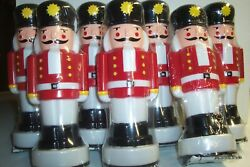 7 New 10 Soldier Nutcracker Toro Pathway Light Toppers Only Blow Mold