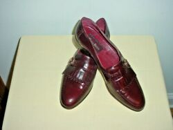 Mario Bruni Authentic Mens13m Italian Leather Tassel/buckle Loafer Dress Shoes