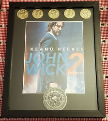 John Wick Chapter 2 Blood Oath Marker And 5 Continental Coins Replica Set
