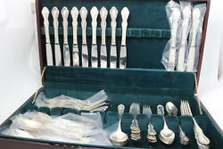 Southern Colonial By Fine Arts / International Sterling Silver Flatware Set 66 P