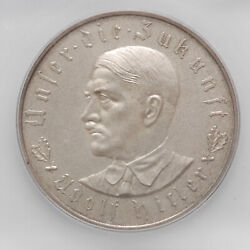 1933 Germany Third Reich Silver Coin / Medal Icg Ms65 Exonumia Commemorative