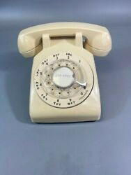 L👀k Vintage Yellow 500c/d Bell System Rotary Desk Phone