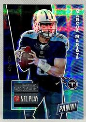 1/1 ⭐ Marcus Mariota ⭐ Nflpa Laundry Patch Tag Oakland Raiders Tennessee Titans