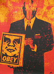 Rare Shepard Fairey - Obey Giant Signed / Numbered Print Suit Red 1999