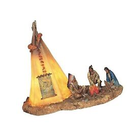 Stealstreet Ss-g-11390 Native Americans With Lighting Tipi Collectible Indian...