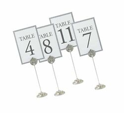 Lillian Rose Silver Wedding Reception Table Number Holders