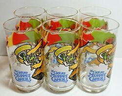 Vintage Mcdonalds Gonzo The Great Muppet Caper Glasses Set Of 6 1981