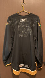 Rare Htf Dallas Stars Team Autographed Signed Hockey Jersey Ahl Ccm Size 60