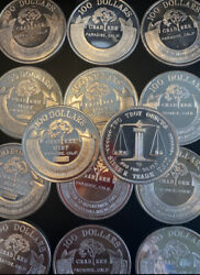 2 Troy Ounce .999 Silver Coin Crabtree Mint 100 Paradise Ca Rare Round Invest