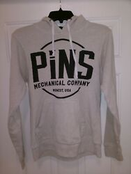 Pins Mechanical Company Brewery And Restaurant Logo Sweatshirt Menand039s Small Beige