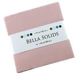 Bella Solids Pink Moda Charm Pack By Moda Fabrics 42-5 Quilt Squares