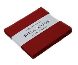 Bella Solids Country Red Moda Charm Pack By Moda Fabrics 42-5 Quilt Squares