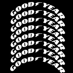 Goodyear Tire Lettering Permanent Sticker 1.38 15-24 Wheel Decals 8 Sets