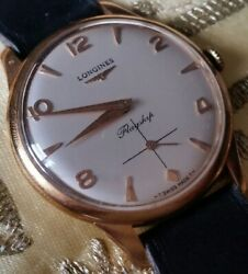 Mint Vintage Longines Flagship Hand Wind Swiss Watch With Tags C1960 Nos
