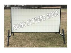 Portable Sign Econoboard 96w X 48h Double Sided Corrugated Marquee Faces 8 Flex
