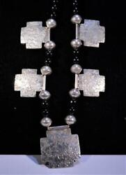 Jan Loco Apache Spirit Of The Rock Sterling Silver And Black Onyx Necklace