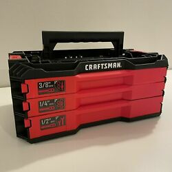 Craftsman 3 Drawer Tool Case Tray Top Versastack Empty Tools Not Included
