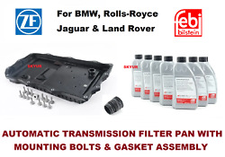 Bmw Auto Trans Oil Pan Filter Kit And 7-liter Fluid With Adapter F07 F10 F06 F12