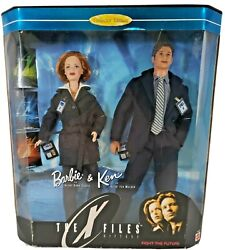X Files Barbie As Dana Sully And Ken As Fox Mulder. Box Damaged.