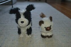 American Girl Border Collie Rembrandt Black White Plush Toy And Himalayan Cat