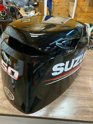 2015 Suzuki Df 50 Hp 4 Stroke Outboard Engine Top Cowl Cover Hood Freshwater Mn