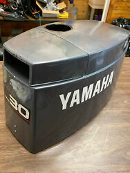 1991 Yamaha 30 Hp 2 Stroke Outboard Hood Top Cowl Cover Freshwater Mn