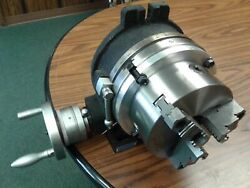 12 Precision Horizontal Vertical Rotary Table And 10 3 Jaw Chuck Topandbottom Jaws
