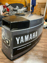 1987 Yamaha 30 Hp 3 Cyl 2 Stroke Outboard Hood Top Cowl Cover Freshwater Mn