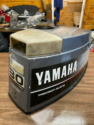 89 Yamaha 30 Hp 3 Cyl 2 Stroke Outboard Hood Top Cowl Cover Freshwater Mn