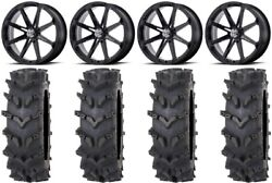 Msa Black Diesel 20 Wheels 35 Outback Maxand039d Tires Rzr Turbo S / Rs1