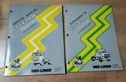 Mack Trucks Electrical System Service Manual Mid Liner + Supplement Cs Cab Over