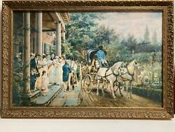 Edward Lamson Henry Vintage Framed Print A Wedding In The Thirties 27 X 18.5