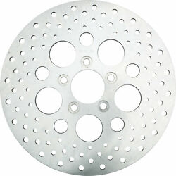 Hd Drilled Vented Brake Rotor Rear Stainless Harley Davidson Fatboy Lo 2010-2017