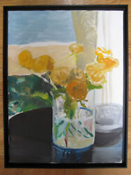 Jack Ceglic Impressionist Flowers Roses Oil Painting Ny Listed Framed Signed Art