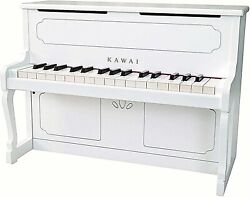 Kawai Upright Piano White Colortoycan Play The Keyboardfrom Japan