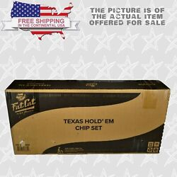 Fat Cat 500ct Texas Hold'em Dice Poker Chip Set With Aluminum Case Brand New