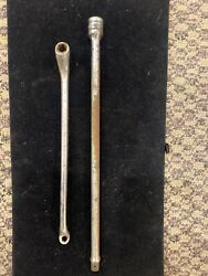 Snap-on 3/8 Drive 11 Extension Fx11 And Brake Bleeder Wrench B1458b 1/4 - 3/8