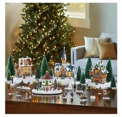 30-piece Christmas Village With Lighted Gazebo And Music
