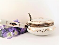 Silent Butler Crumb Catcher Vintage 1950s Isco Porcelain Formal Dining Accessory