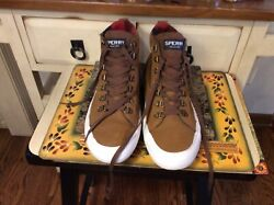 Sperry Topsider Brown Leather Chukka Ankle Boots Mens 9m Great Condition