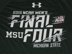 Ncaa Basketball 2015 Final Four Michigan State Spartans Shirt Md Under Armour