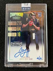 Jared Goff 2016 Contenders Recollection Championship Ticket Auto Rc Sp /2