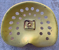 Vintage Old Metal Tractor Seat With Mounting Plate Farm Farming Tractor Barstool