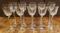 Set Of 11 Mikasa Crystal Briarcliffe -- 8-1/8 Wine Glasses Glass Goblets