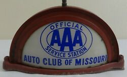 Early Glass Aaa Auto Club Lighted Cab Truck Topper