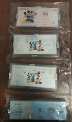 100 X Pcs 2015 China Disney 3g Colored Solid Silver - Celebrating Time