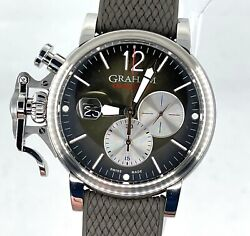New Graham Chronofighter Vintage Watch Green Sunbrushed Dial 2cvds.c02a