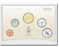 Korea 2020, Year Of Mouse Coin Mint Set, Bi-metal, Unc, Bu, 5000 Issued