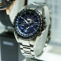 Seiko Astron Solar Gps Stainless Steel Big Date Menand039s Watch Sse147